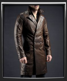 The Butcher - Military Leather Coat by Soul Revolver