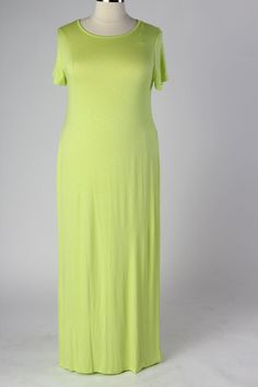 Plus Size Clothing for Women - Neon Side Slide Maxi Dress (Sizes 14 - 20) - Society+ - Society Plus - Buy Online Now!