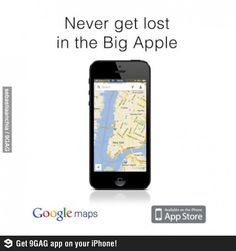 clever google maps advertisement.