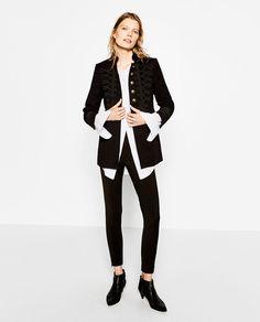 Image 1 of VELVET MILITARY JACKET from Zara