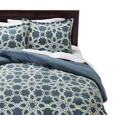Threshold� Tile Flannel Duvet Cover Set