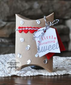 Pickled Paper Designs: Reverse Confetti pillow box sweet valentine