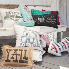 the JG pillow collection!!! a whole lotta southern, free-spirited inspiration! Junk Gypsy Wild At Heart Pillow Cover