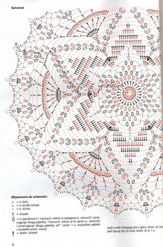 Häkelschrift zu schönem runden Deckchen Sabrina robotki 8 2009 - sevar mirova - Álbumes web de Picasa Knitting ProjectsCrochet For BeginnersCrochet PatternsCrochet Baby Motif Mandala Crochet, Crochet Circles, Crochet Doily Patterns, Crochet Diagram, Crochet Chart, Thread Crochet, Filet Crochet, Rug Patterns, Crochet Home