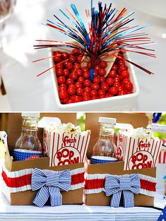 Sweet Seersucker Bow Inspired of July Party Ideas – Bliss by Glam - LessBo Ideas Fourth Of July Food, 4th Of July Celebration, 4th Of July Party, July 4th, Holiday Dinner, Holiday Fun, Patriotic Party, Happy 4 Of July, Summer Parties
