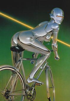 Sexy Robot Oil Paintings by Hajime Sorayama Illustration Hot Robot, Art Cyberpunk, Robot Painting, Female Cyborg, Steampunk, Robot Girl, Futuristic Art, Ex Machina, Airbrush Art