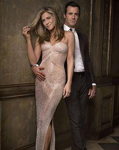 Jennifer Aniston, Justin Theroux Pack on PDA at Vanity Fair Oscar Bash - Us Weekly