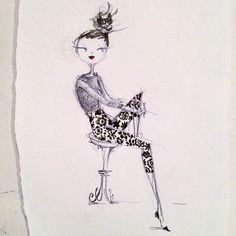Pretty Pants #sketch #fashion #patterns #blackwingpencils