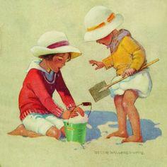 Children with bucket - Jessie Willcox Smith