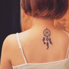 Afbeeldingsresultaat voor dreamcatcher tattoo neck