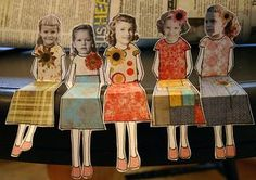 Cool idea for history projects (dioramas, puppet shows, etc.) using historic figures and/or include paper dolls w students' faces as well.