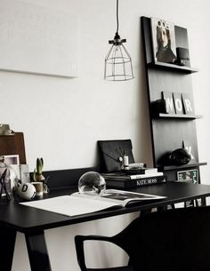 Modern Black + white Office