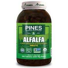 Pines International Alfalfa Organic Tablets (1x500 Tablets)