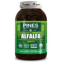 Pines International Alfalfa Organic Tablets (1x500 Tablets)