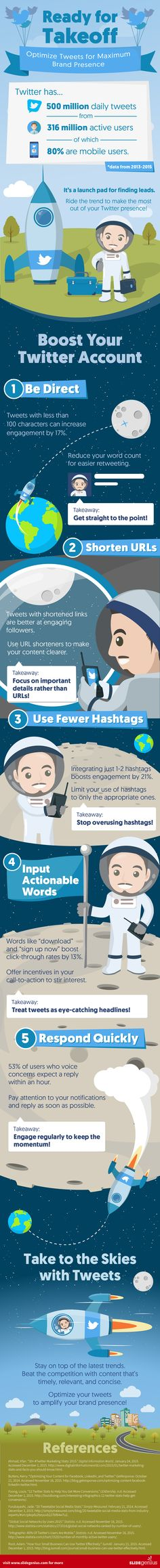 Ready for Takeoff: Optimize Tweets for Maximum Brand Presence - #infographic