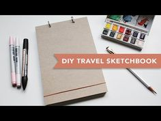 DIY | Travel Sketchbook (Super Easy) by Chloe Christine - Drawing Technique