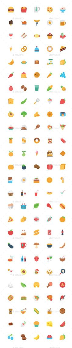125+ Flat Food Vector Icons #design Download: http://graphicriver.net/item/125-flat-food-vector-icons/12044490?ref=ksioks