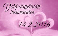 Ullan Luetut kirjat: Ystävänpäivän lukumaraton Päivittyvä postaus Reading Challenge, Challenges