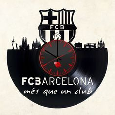 Barcelona football club Barça Blaugrana Handmade Vinyl Record Wall Clock - VINYL CLOCKS