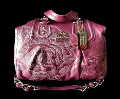 RARE Coach Ltd Ed Madison Violet Floral Embroidered Leather Audrey Satchel  Tote  Coach  TotesSatchelHandbagPurse 0c6818869aeaf