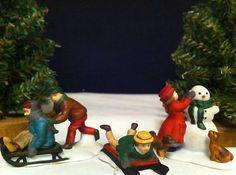 Dept 56 Dickens' Village - Snow Children - Set of 3 Dept 56 Dickens Village, Dept 56 Snow Village, Department 56, Christmas Villages, 2 Set, Villas, Winter Wonderland, Biscuit, Hobbies