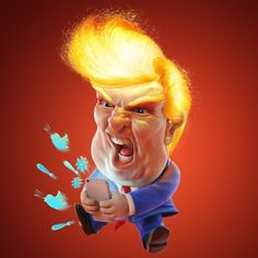 Angry Donald Trump is angry! by Courtney Hopkinson | Caricature | 3D | CGSociety