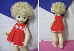 Кукла добрая, 53 см, давняя, тяжелая, Загорск, СССР, нач.70-х. Редкая!