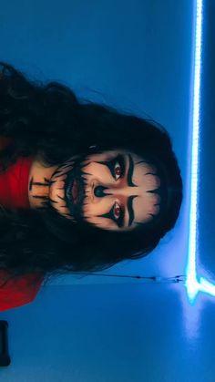 Cute Clown Makeup, Beautiful Halloween Makeup, Creepy Makeup, Edgy Makeup, Makeup Eyes, Maquillage Halloween Clown, Halloween Makeup Clown, Halloween Eyes, Halloween Makeup Looks