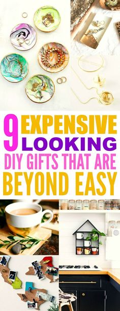 These 9 Expensive Looking DIY gifts are THE BEST! I'm so happy I found these AMAZING ideas! Now I found some great gifts to make for friends. Definitely pinning for later! - 9 Expensive Looking Easy DIY Gifts Diy Christmas Gifts For Boyfriend, Diy Gifts For Girlfriend, Diy Gifts For Mom, Diy Holiday Gifts, Easy Diy Gifts, Diy Crafts For Gifts, Decor Crafts, Homemade Gifts For Friends, Diy Gifts Small