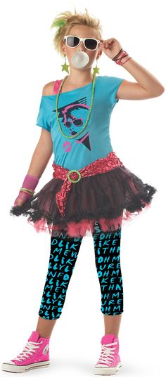 PartyBell.com - 80's Valley Girl #ChildCostume