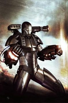Warmachine...like Iron Man but not drunk and with guns.