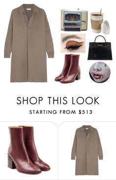 """""""Untitled #5654"""" by ijustlikefashionman ❤ liked on Polyvore featuring Maison Margiela, Vince and Hermès"""