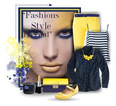 """""""Navy & Yellow"""" by tracireuer ❤ liked on Polyvore"""