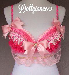 Pretty in Pink, Princess Peach, Bubble Gum, Barbie, Lolita Bra by Dollyiance on Etsy https://www.etsy.com/listing/224303401/pretty-in-pink-princess-peach-bubble-gum