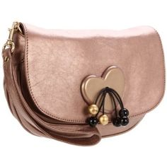 See by Chloe Party Cherry Heart Clutch,Champagne,One Size
