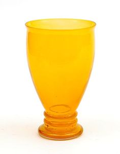 Orange glass Winter-beaker with clear glass overlay design A.D.Copier 1923 executed by Glasfabriek Leerdam / the Netherlands