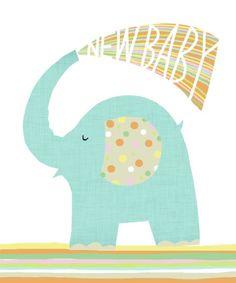 Jeannine Rundle - AD2888A NURSERY ELEPHANT NEW BABY GIFT BAG