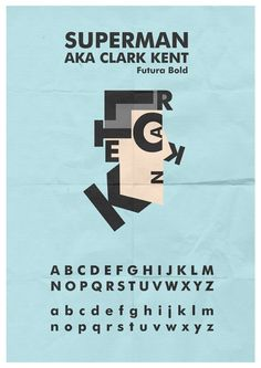 Clark Kent Typeface by ~mattcantdraw on deviantART Clark Kent, Social Community, User Profile, Superman, Typography, Deviantart, Logos, Movie Posters, Ideas