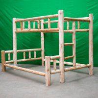 Northern White Cedar Log Bunk Bed Log Furniture Bunk Beds Twin