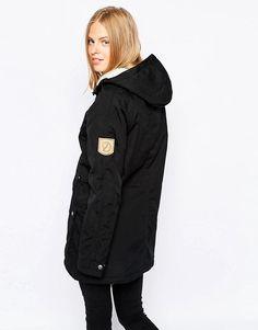 Fjallraven Hooded Parka Coat With Borg Lining | ASOS Hooded Parka, Parka Coat, Canada Goose Jackets, Hoods, Winter Jackets, Shopping, Style, Fashion, Winter Coats