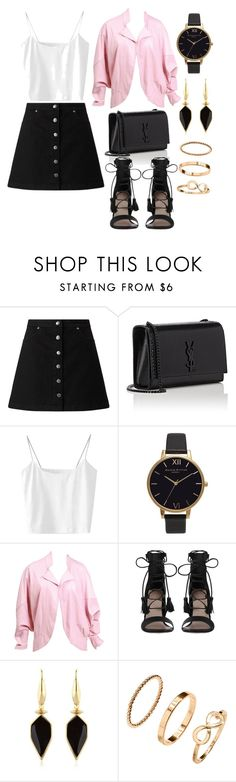 """""""Untitled #77"""" by l-m-l-1 ❤ liked on Polyvore featuring Miss Selfridge, Yves Saint Laurent, Olivia Burton, Zimmermann, Isabel Marant and H&M"""