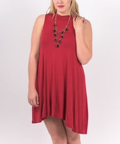 Love this Red Shift Dress - Plus on #zulily! #zulilyfinds