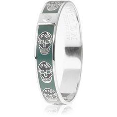 Alexander McQueen Jade Skull Enamel Bracelet