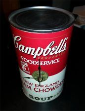 Campbells Soup Can Clock - Andy Warhol Style