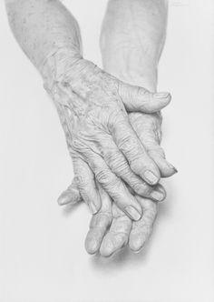 Javier Arizabalo ~ Old Hands (pencil)
