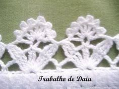 This Pin was discovered by Mar Crochet Edging Patterns, Crochet Lace Edging, Crochet Borders, Lace Patterns, Filet Crochet, Irish Crochet, Crochet Doilies, Crochet Flowers, Crochet Stitches