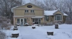 Stoney Ridge Estate Winery - visited this winery once (not in winter) and they had chocolate samples to compliment the tasting! Would definitely recommend it! Niagara Region, Wine Country, Outdoor Travel, Bed And Breakfast, Ontario, Wineries, Winter, Canada, Chocolate