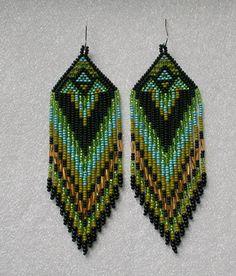 Largo de aretes de perlas de estilo indio estilo tribal por Olisava