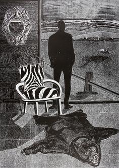 Picture Gorillas In The Mist, Joan Mitchell, Lino Cuts, Etchings, Linocut Prints, Printmaking, Mists, Illustrators, Inspire