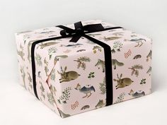 Forest Animals Wrapping Paper  Pink  by clapclapdesign on Etsy, $9.00